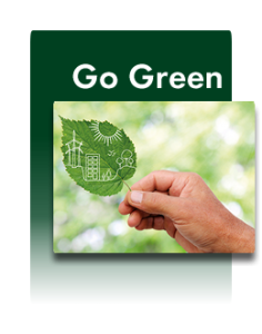 Unser Motto: go green