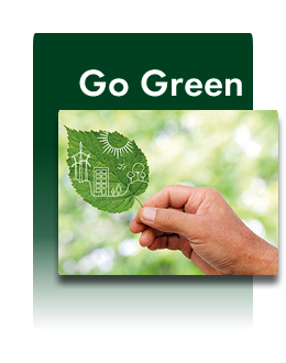 Unser Motto: go green